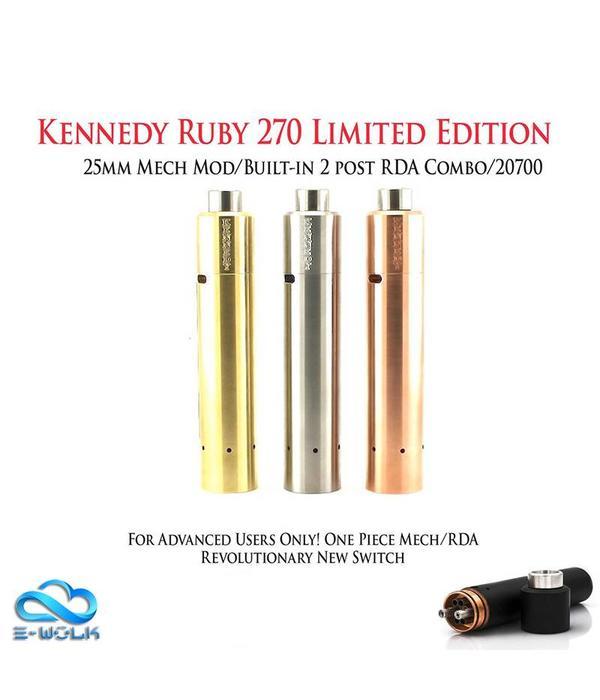 Kennedy Ruby 18650 - 24mm Mech Mod/RDA Combo