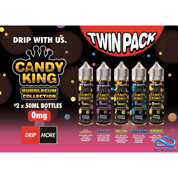 Candy King Bubblegum Collection (2 x 50ml) Plus