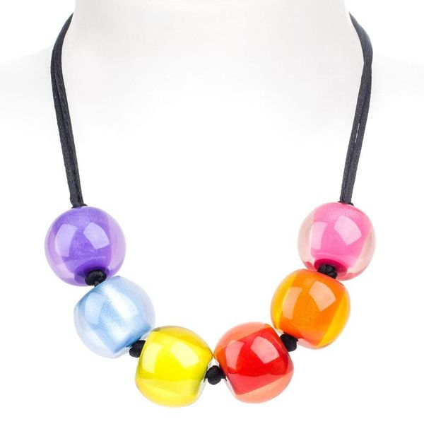 Collier multicolore Q06 | Colourful Beads