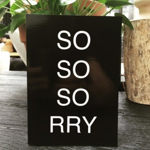 "Blackflags Kaart ""Sorry"""