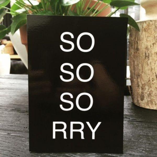 "Carte de voeux ""Sorry"""