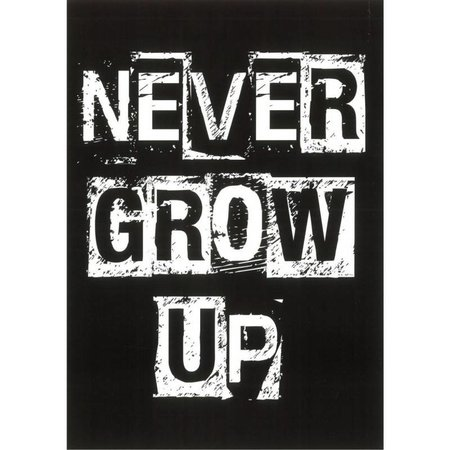 "Blackflags Carte de voeux ""Never grow up"""