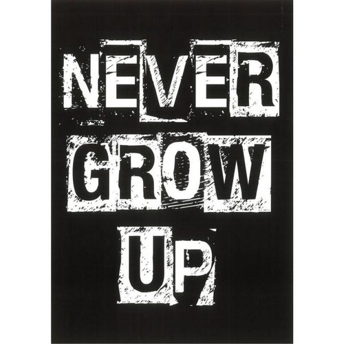 "Blackflags Kaart ""Never grow up"""