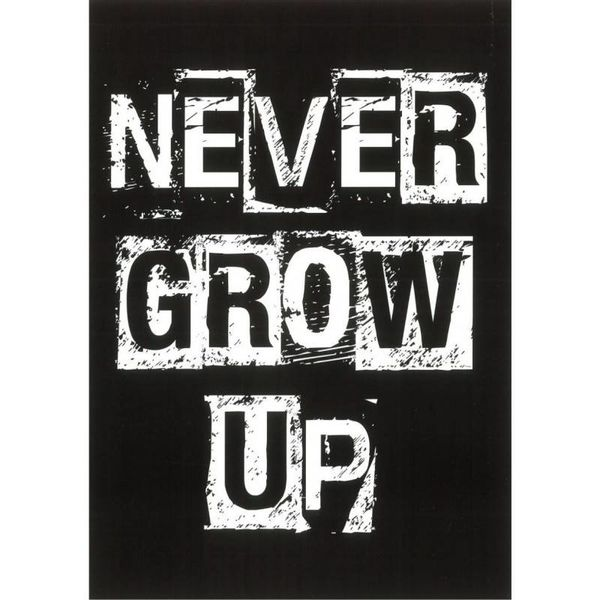 """Carte de voeux """"Never grow up"""""""