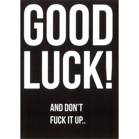 "Blackflags Carte de voeux ""Good luck"""