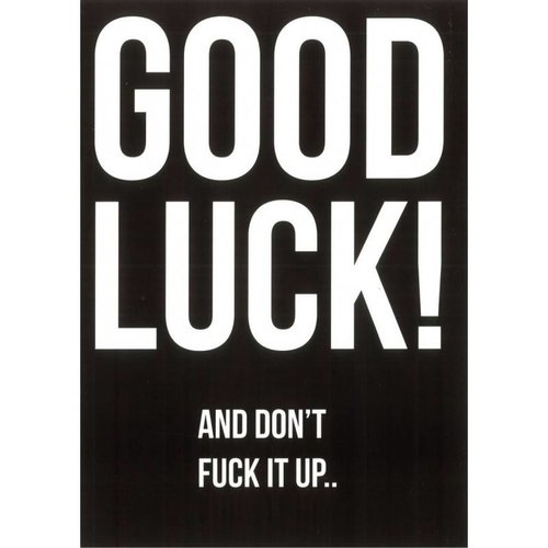 "Blackflags Kaart ""Good Luck"""