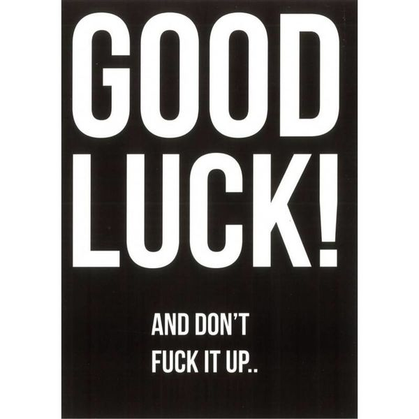 "Carte de voeux ""Good luck"""