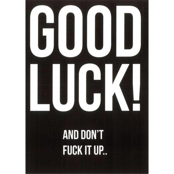 """Kaart """"Good Luck"""""""