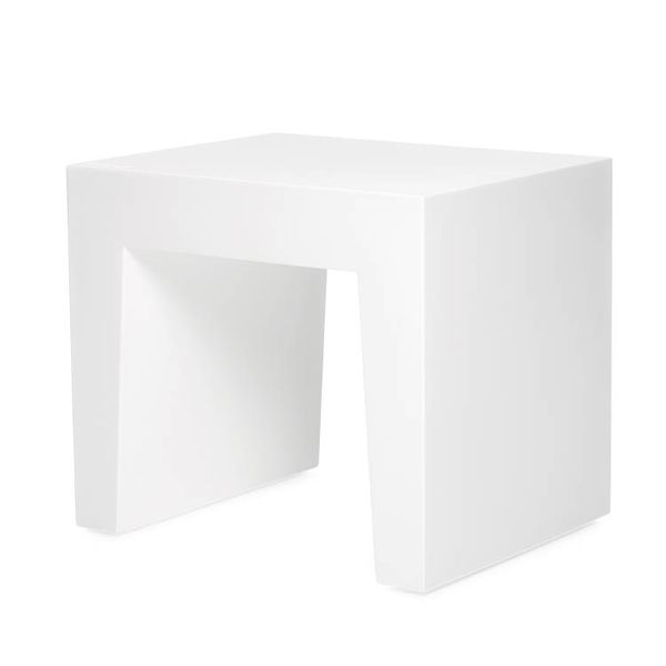 Tabouret Concrete Seat Blanc