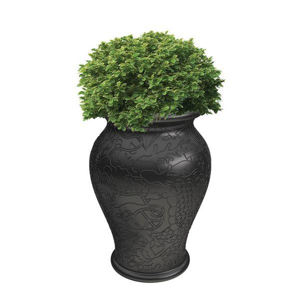 Ming Plantenbak H 60cm Zwart