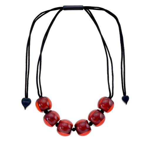 ZSISKA Collier rouge foncé | Colourful Beads