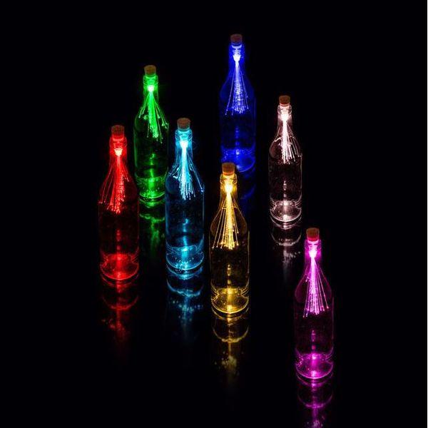 Oplaadbare Fibre Optic Bottle Light - multicolor