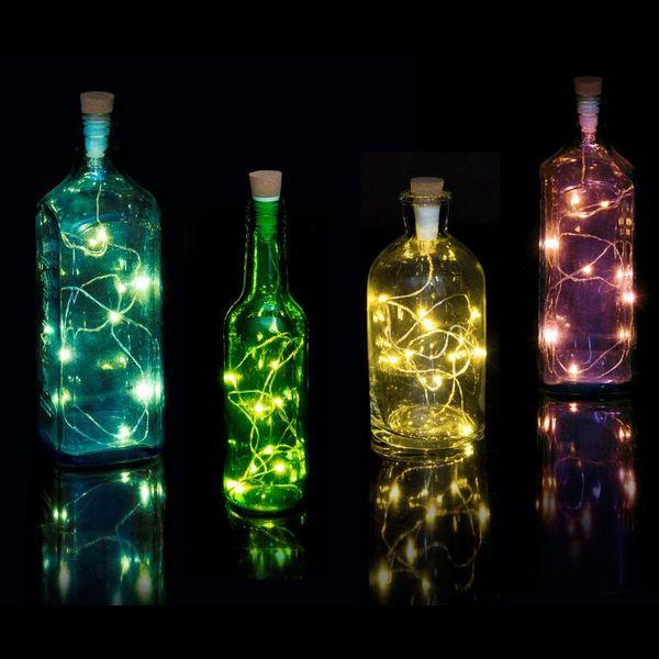 Oplaadbare Bottle String Light - multicolor