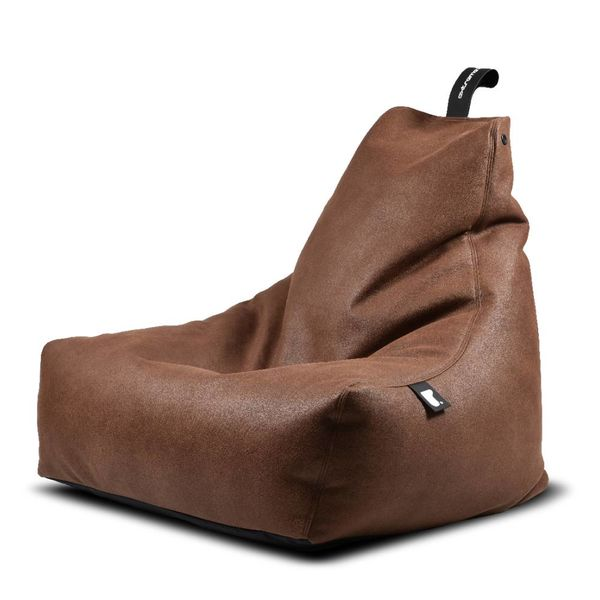 Pouf B-bag Mighty-b Indoor Aspect cuir Chestnut