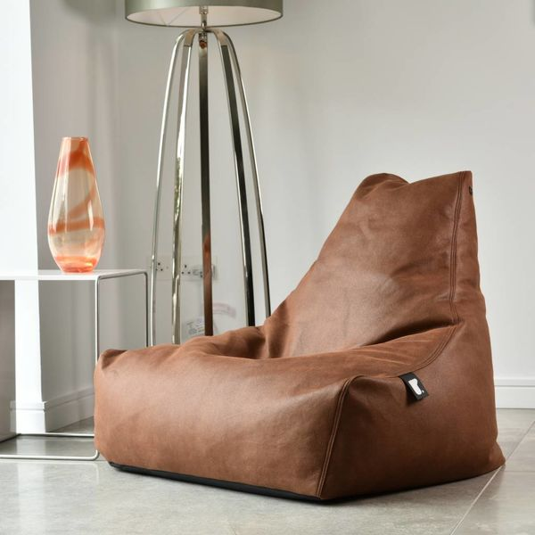 Pouf B-bag Mighty-b Indoor Aspect cuir Tan