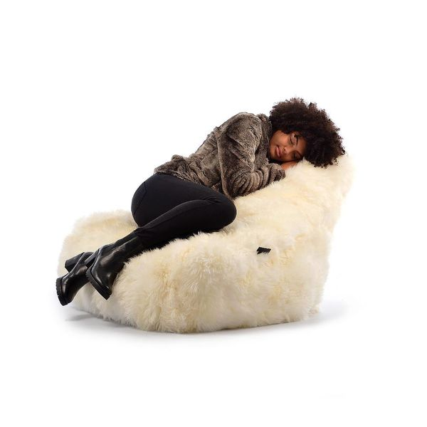 Zitzak B-bag Mighty-b Indoor Sheepskin Zwart