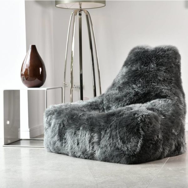 Pouf B-bag Mighty-b Indoor Sheepskin Gris