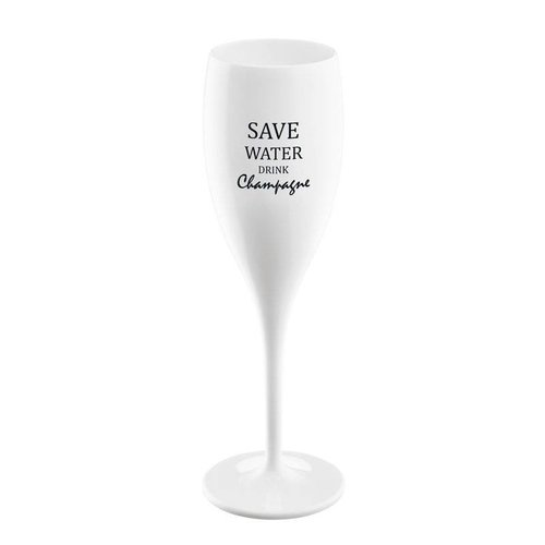 Koziol Champagneglas: Save Water Drink Champagne