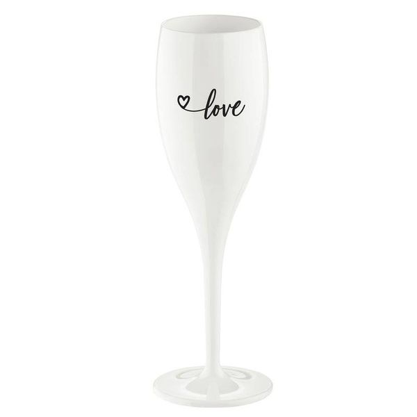 Champagneglas met quote: Love | 100 ml
