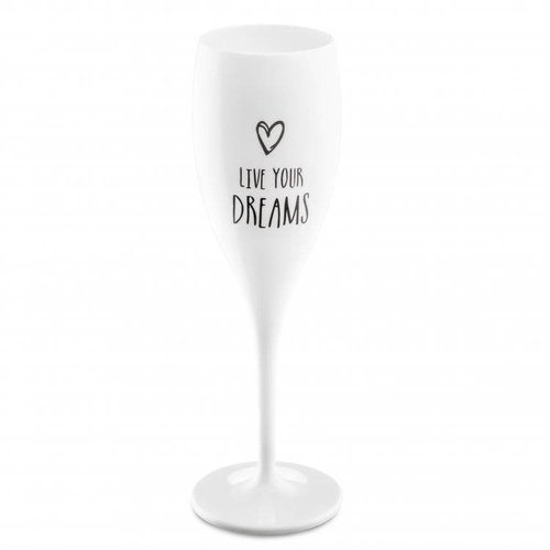 Koziol Champagneglas: Live your Dreams