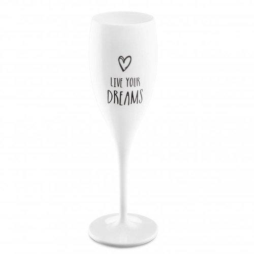 Koziol Flûte à champagne: Live your Dreams