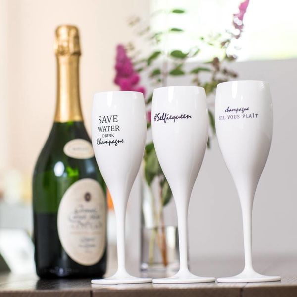 Champagneglas met quote: Save Water Drink Champagne | 100 ml