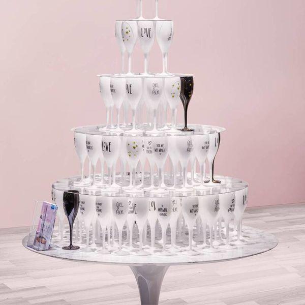 Champagneglas met opdruk: Normal is Boring | 100 ml