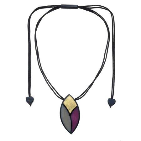 ZSISKA Collier purple gold | Sarah