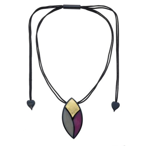 ZSISKA Collier purple gold | Sarah
