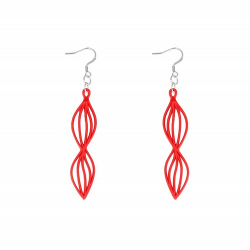 Batucada Earrings WAVES Rood