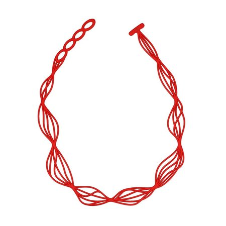 Batucada Necklace WAVES Rood