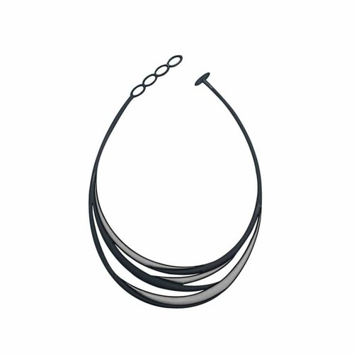 Batucada Necklace SWELL Zwart / Zilver
