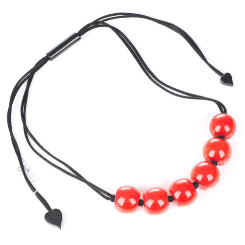 ZSISKA Collier rouge Q6 | Colourful Beads