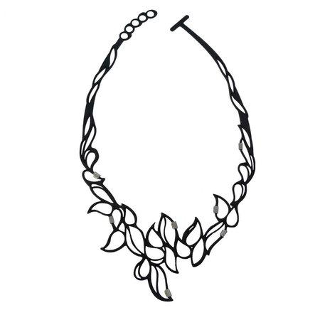 Batucada Necklace SHINY DROPS Zwart
