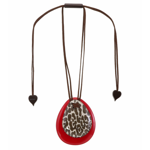 Collier White/Red | Leopard
