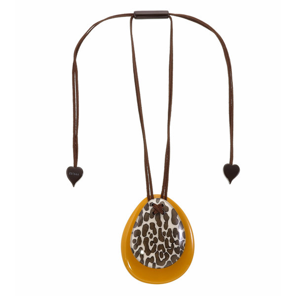 Collier White/Yellow | Leopard