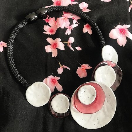 ZSISKA Halsketting grey/pink | Dok Mai