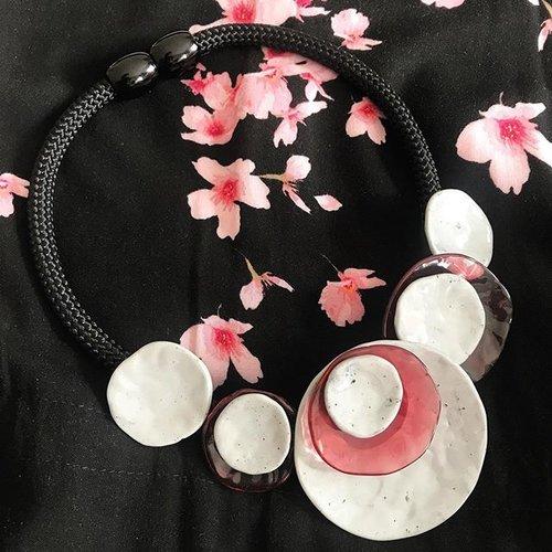 ZSISKA Collier grey/pink | Dok Mai