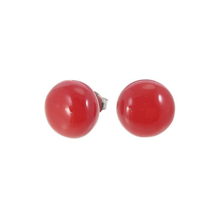 ZSISKA Oorstekers red ø 12 mm | Colourful Beads