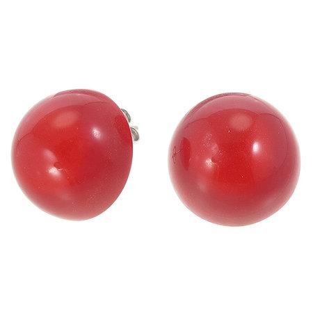 ZSISKA Boucles d'oreilles puces red ø 22 mm | Colourful Beads