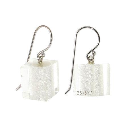 ZSISKA Boucles d'oreilles silver | Colourful Cubes