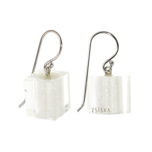 ZSISKA Boucles d'oreilles silver | Colourful Cubes