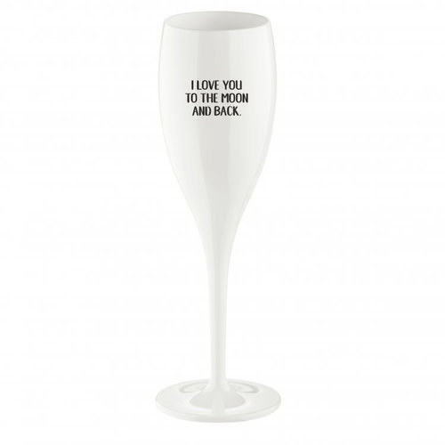 Koziol Champagneglas: Love you to the moon...