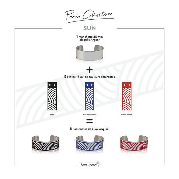 Armband SUN Zilver met 3 verwisselbare kleuren