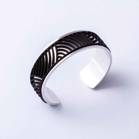 Batucada Armband SUN Zilver met 3 verwisselbare kleuren