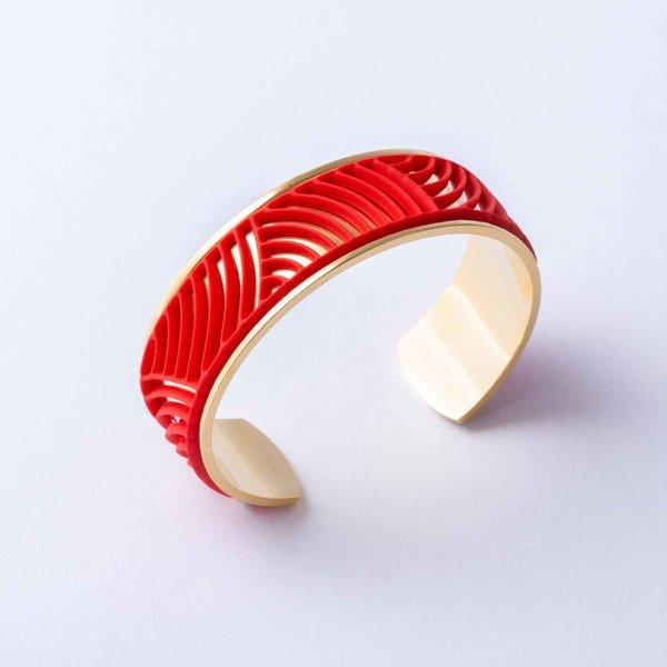 Armband SUN Goud met 3 verwisselbare kleuren