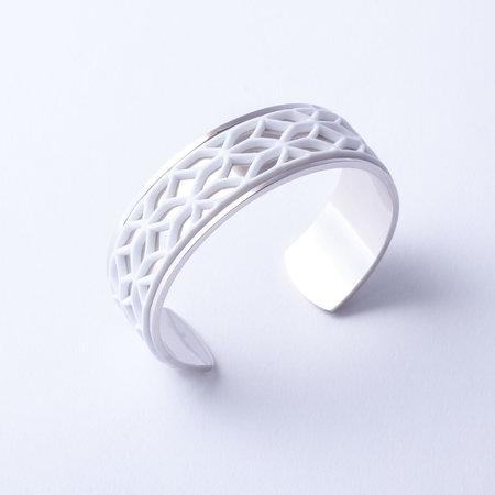 Batucada Armband LACE Zilver met 3 verwisselbare kleuren