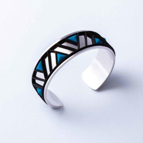 Batucada Armband PETRA Zilver met 3 verwisselbare kleuren