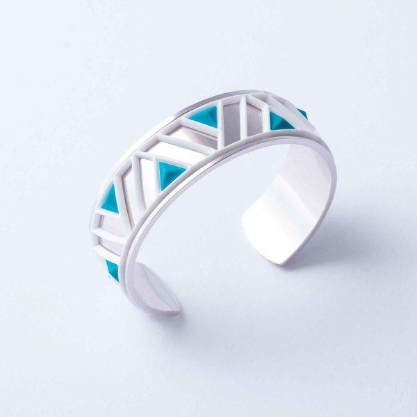 Armband PETRA Zilver met 3 verwisselbare kleuren