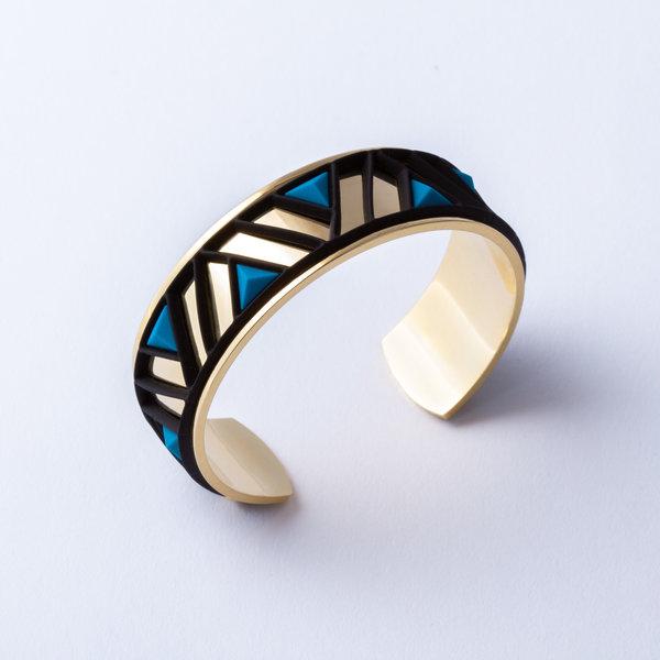 Armband PETRA Goud met 3 verwisselbare kleuren